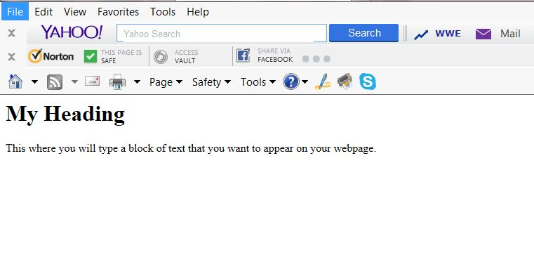 """Webpage in the """"local"""" browser"""