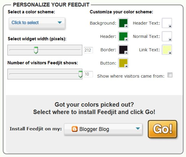 FeedJit Live Traffic Feed Options