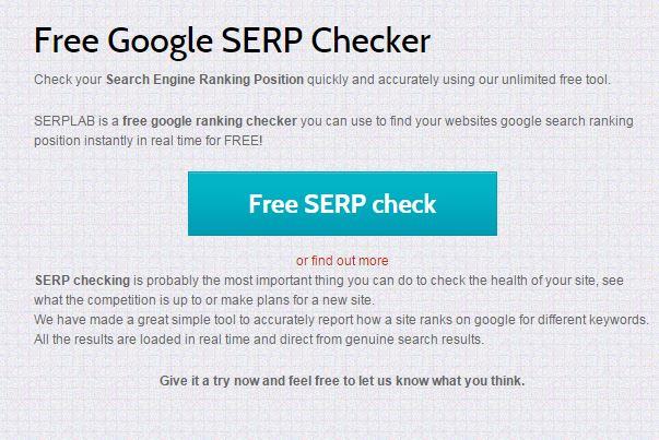 Check your Google Rank Fee