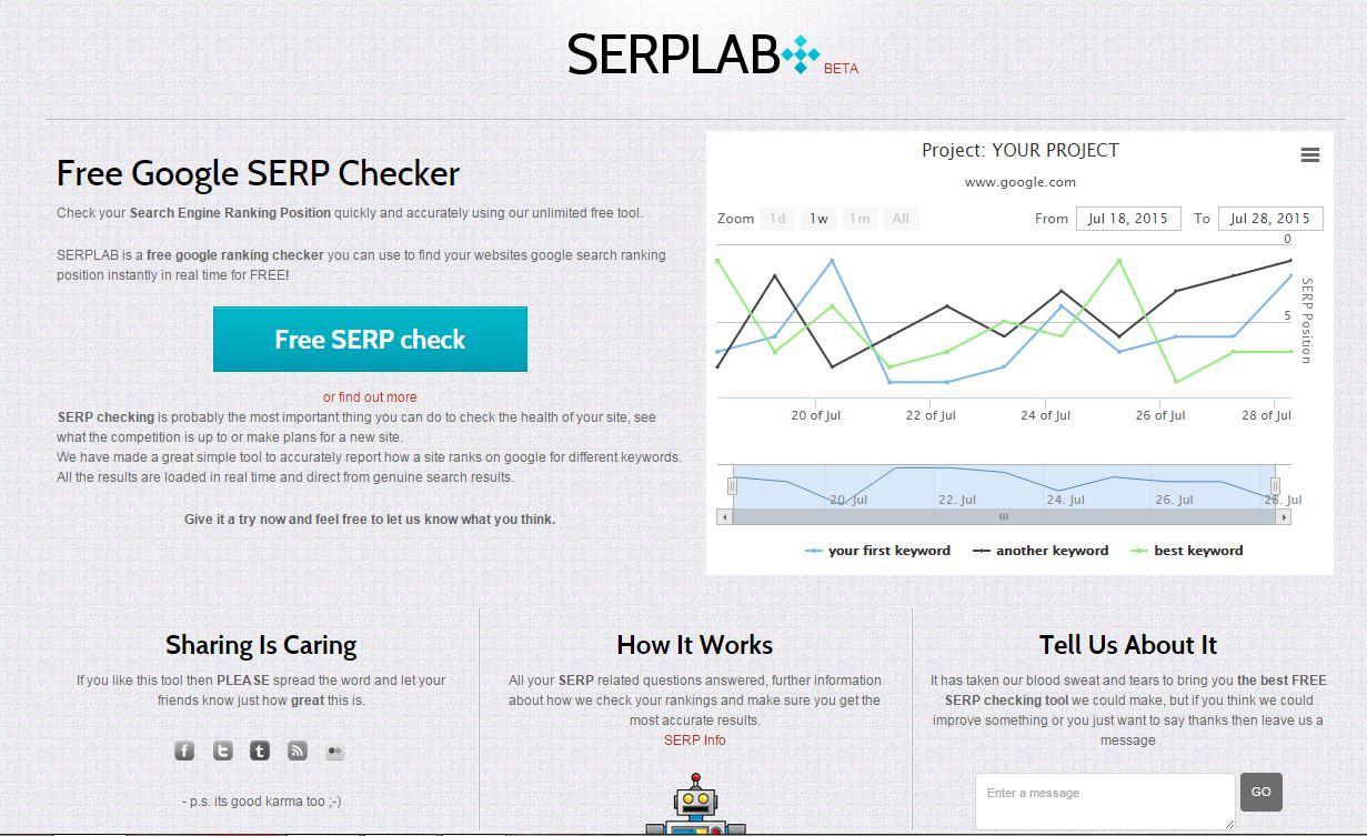 SERP Initial Screen