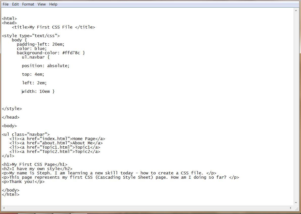 CSS code - align the nav bar