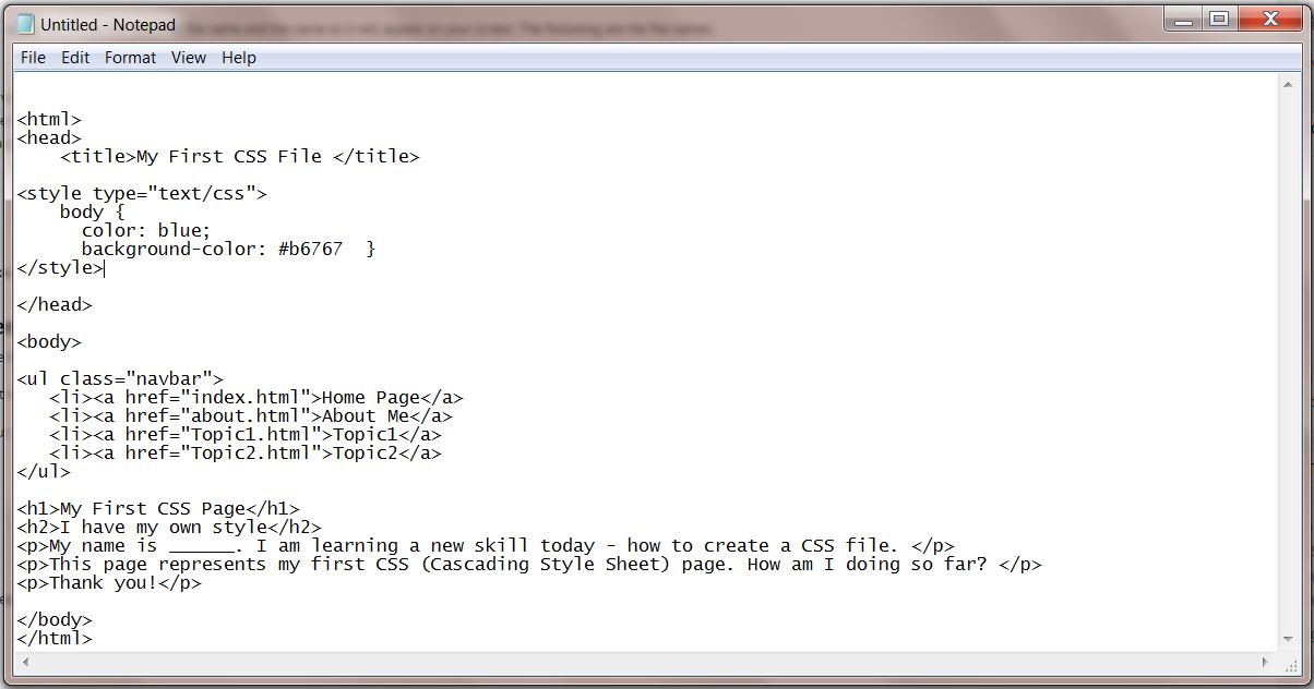 CSS stylesheet