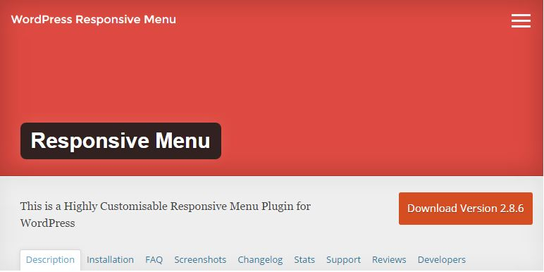 Click for responsive menu