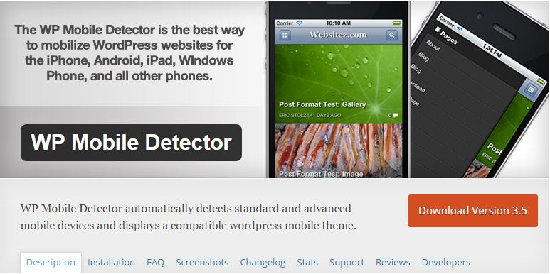 WordPress Mobile Detector