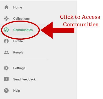Click to Access Communities