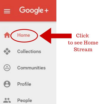 Click to see Home Stream